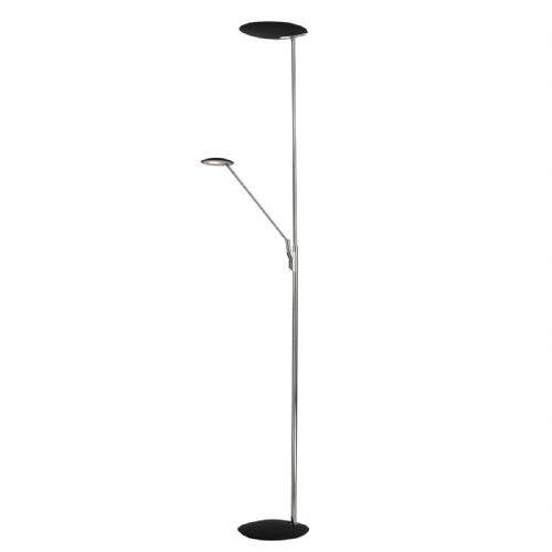 LED Floor Lamp Standard Mother And Child Polished Chrome And Black LXOUN4950-17